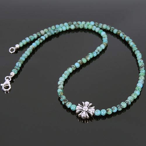 Men S Handmade Necklace Green Turquoise Gemstone Sterling